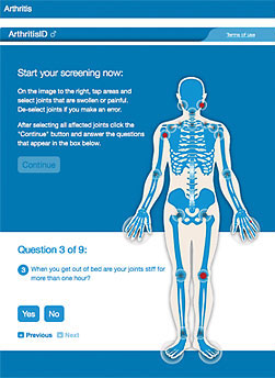 Men's Arthritis Screening Tool